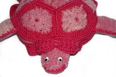 Girls Pink Turtle Backpack Turtle Crochet by SariasKnitNCrochet, $37.60