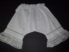 Original Antique Girls Victorian Bloomers  by houseofpatterns-Etsy 33.00