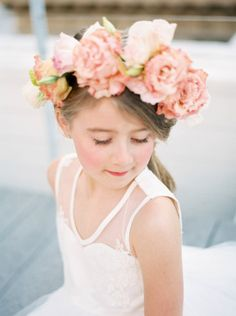 The fashionable flower girl: http://www.stylemepretty.com/2015/04/16/will-you-be-my-flower-girl-shoot/ | Photography: Nicole Berrett - http://www.berrettphotography.com/