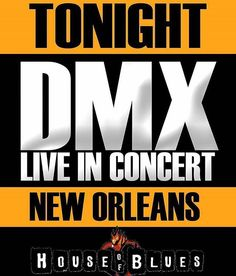 TONIGHT @TattedUpEvents Presents:  Throwback Concert Series @Hobnola  225 Decatur St New Orleans LA  @dmx Live in Concert  Also Performing Live  @dboylackylac Ghetto Twinz  Partners n Crime  Hosted by @rudejudemr504 & @greg_dee  It's going to be a Unforgettable Event  Get your Tickets Now www.ticketmaster.com Call (504)310-4999 or (870)540-5021 for more info  Early Bird General Admission $40  General Admission $50  Balcony seats $75  #DMX #TattedUpEvents #HouseOfBluesNewOrleans #NolaNight…