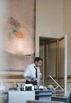Emmanuel Macron, Desk, Furniture, Home Decor, Desktop, Decoration Home, Room Decor, Writing Desk, Home Furniture