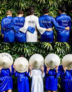 We love these custom made robes for the bride and bridesmaids! Brides And Bridesmaids, Bridesmaid Dresses, Hoi An, Big Day, Bridal Gowns, Dreaming Of You, Our Wedding, Your Style, Relationship