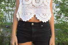 Black shorts , Lace top