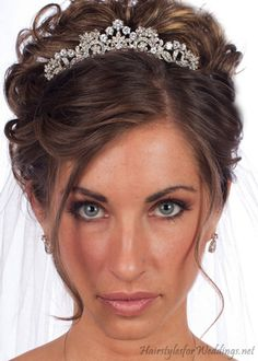 Updo with tiara