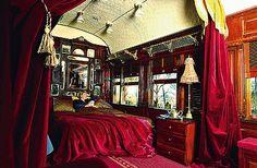 Sleeping in a Pullman train in Australia.