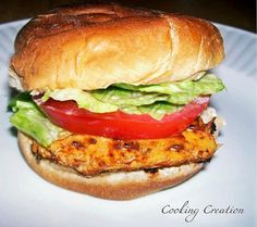 in love with a particular Cajun Chicken Sandwich that one of our local restaurants serves.