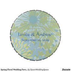 Spring Floral Wedding Favor Candy Tin