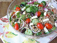 Mediterranean Farro Salad | Sugarfreemom.com