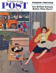 Sat Eve Post Cover - Sep 12 1959  Illustration by Amos Sewell