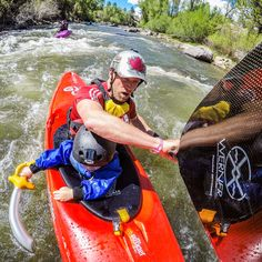Dive into #ProTip Tuesday with professional kayaker, dad + #GoProAthlete, @nicktroutmankayak. 📖👇 • Photo 1: I have learned that river trips with my #son are always much more about the #adventure than the actual whitewater. Early this #summer we decided to bring Tucker's sword in case we came across any pirates on our mighty voyage down the Arkansas River. The photo was taken with my #HERO5 + a Flat Adhesive Mount stuck to my paddle blade while shooting in .5 second Time Lapse Mode…