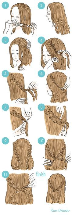 Cute Simple Hairstyles, Quick Hairstyles, Pretty Hairstyles, Braided Hairstyles, Everyday Hairstyles, Wedding Hairstyles, Step Hairstyle, Wedge Hairstyles, Bridesmaid Hairstyles