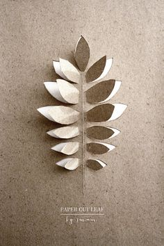 Paper cut leaf | SMÄM