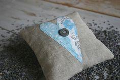 Organic Lavender Sachet  Pale Blue Vintage Heart by Skapligt, $17.00