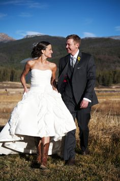 Colorado Rockies rustic wedding (photo: Two One Photography)