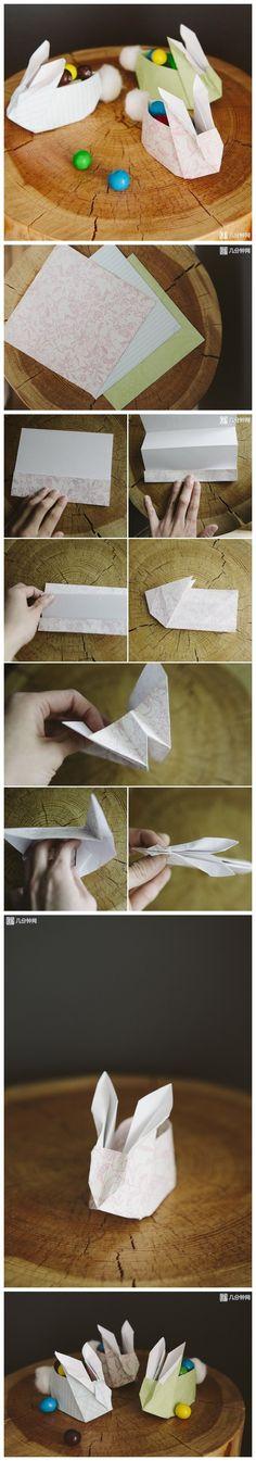 教你折可爱兔子纸盒。这里有视频教程http://www.jifenzhong.com/quan/26666/topic/60494
