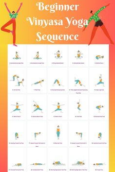 Yoga Sequence For Beginners, Yoga Routine For Beginners, Vinyasa Flow Sequence, Vinyasa Yoga Poses, Begginers Yoga, Morning Yoga Sequences, Exercise Motivation, Fitness Motivation, Basic Yoga