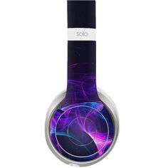 Blue Light Rays decal for Monster Beats Solo 2 wireless headphones - Decal Design