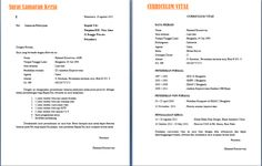 Contoh Surat Lamaran Kerja Lengkap Dengan CV | ben jobs