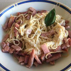 Spaghettis ricotta/bacon | Recettes allégées WW| Audecuisine