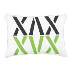 Custom Black Green White Abstract Pattern Decorative Pillow