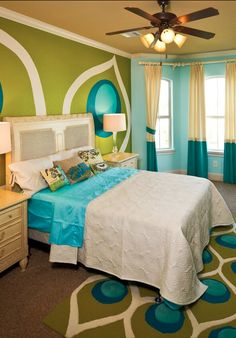 A bright patterned room for some added fun!