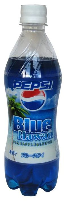 Pepsi Blue Hawaii - pineapple lemon flavored (Japan) 19 Pepsi Flavors You've Probably Never Heard Of Pepsi Cola, Coke, Cola Wars, Bubble Birthday Parties, Blue Hawaii, Drinking Quotes, Weird Food, Mountain Dew, Unique Recipes