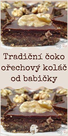 Tradiční čoko ořechový koláč od babičky Cereal, Food And Drink, Breakfast, Morning Coffee, Breakfast Cereal, Corn Flakes