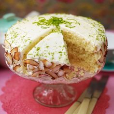 Lime and Coconut Layer Cake - Woman And Home