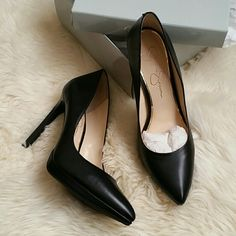 Final Price! Jessica Simpson leather pumps 8.5 Brand new, never worn black leather Jessica Simpson heels in size 8.5 Jessica Simpson Shoes Heels