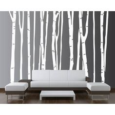 Large Wall Birch Tree Decal Forest Kids Vinyl Sticker Removable 9 Trees 108 9 Feet Tall 1109 -- Click image for more details. Birch Tree Wall Decal, Large Wall Decals, Tree Decals, Kids Wall Decals, Wall Stickers, Birch Tree Mural, Vinyl Decals, Tree Stencil For Wall, White Birch Trees