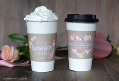 Skip to My Lou-Free Printable Valentine Coffee Wraps (personalize in Adobe Acrobat or Reader)