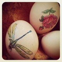 Temporary tattoos are a great alternative to dying eggs.