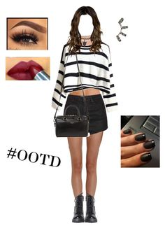 """Outfit Of The Day"" by dreambreatherbb ❤ liked on Polyvore featuring Cosabella, Hanro, Simone Perele, Topshop, Yves Saint Laurent, Repossi and Maybelline"
