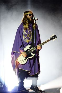 Jared Leto of Thirty Seconds to Mars performs at Cruzan Amphitheatre in West Palm Beach, Florida.