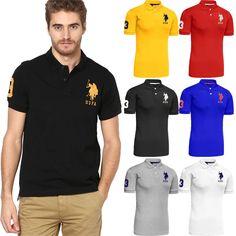 Mens US Polo Assn Original Shirt Branded Logo T Shirt Top Short Sleeve Cotton | eBay