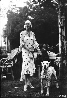 (via Miss Moss : The Seeberger Brothers) dog show dalmatian woman dots dress vintage Posted 1 year ago dots Photo Vintage, Vintage Dog, Mode Vintage, Looks Vintage, Vintage Style, Vintage Paris, Vintage Couples, 1920s Style, Modern Fashion