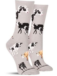 For all you know they could be plotting their next attack… but as long as you are in these crazy socks, we think you will be safe from the next cow-pocalypse.