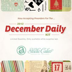 2012 December Daily with Ali Edwards and Studio Calico....I really want to try this, this year! This is gorgeous!!
