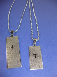 Wholesale Jewelry - Silver Ball Chain Necklace w/ Lord's Prayer *** ONLY $0.54 EACH ***
