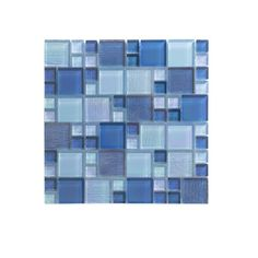 WS Tiles Reflections Iridescent x Glass Mosaic Tile Lake Blue Color, Sea Green Color, Blue Mosaic Tile, Mosaic Glass, Carton Design, Medieval Tapestry, Glass Installation, Tapestry Design, Home