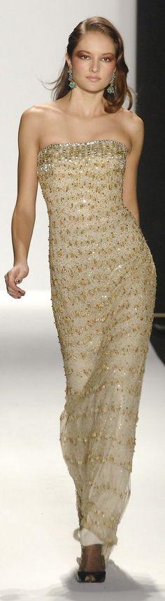 Badgley Mischka - M Runway Fashion, High Fashion, Fashion Beauty, Glamour, Vogue, Bronze, Badgley Mischka, Beautiful Gowns, Pretty Dresses