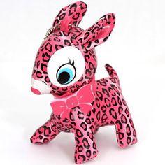 cute big pink deer charm leo spots 1