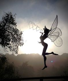 This Artist Creatures Gorgeous and Unique Fairy Sculptures Out of Nothing But Wire