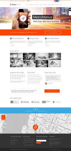3Clicks   Responsive Multi-Purpose WordPress Theme http://themeforest.net/item/3clicks-responsive-multipurpose-wordpress-theme/5092225?ref=wpaw #webpage #design #template