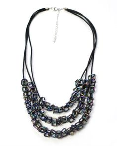 Architectural Cube Necklace by Sylca <3 <3