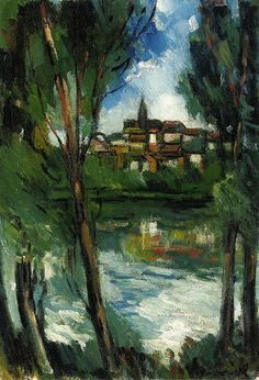 Landscape from beyond the River, 1920. Maurice de Vlaminck