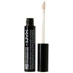 NYX Professional Makeup High Definition Eyeshadow Base evens out skin tone and smooth out lines. Perfect prep for true color & long lasting eye shadow. Be camera ready in an instant! Eyeshadow Primer, Eye Primer, Makeup Primer, Makeup Dupes, Makeup Kit, Eye Makeup, Makeup Products, Beauty Products, Makeup Ideas