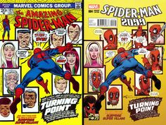 "Spider-Man 2099 Vol 2 #4 Incentive Greg Land ""Deadpool 75th Anniversary Photobomb"" Variant"