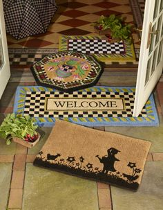 Coir entrance mats always make a nice welcome.