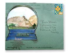 snow globe envelope!